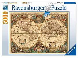 Antique World Map, 5000pcPuzzles and Board Games