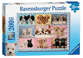 Perfect Pups, XXL 200Puzzles and Board Games