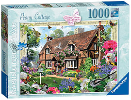 Country Cottage No 8 Peony CottagePuzzles and Board Games