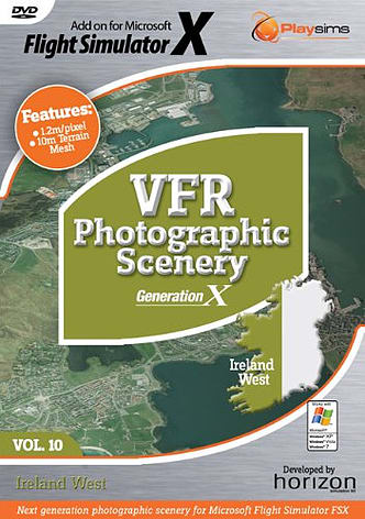 VFR Photographic Scenery Generation X - Volume 10 - Ireland West for FSX