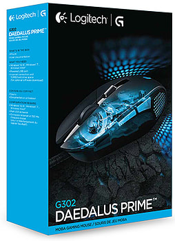 Logitech G302 Prime Gaming Mouse Black MOBA DaedalusAccessories