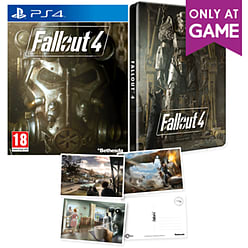 Fallout 4 Steelbook & Postcards - Only At GAME PlayStation 4 Cover Art