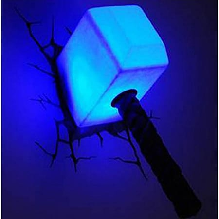 Buy marvel avengers thor hammer 3d led wall light free uk delivery marvel avengers thor hammer 3d led wall light aloadofball Images