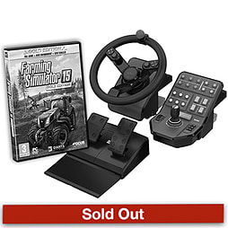 Farming Simulator 15 Gold With Official Wheel, Pedals & Side Panel PC Games