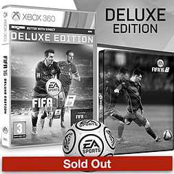 FIFA 16 Deluxe Edition With Only At GAME Preorder Pack Xbox 360