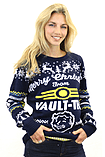Fallout Blue Xmas Jumper (Small) screen shot 7
