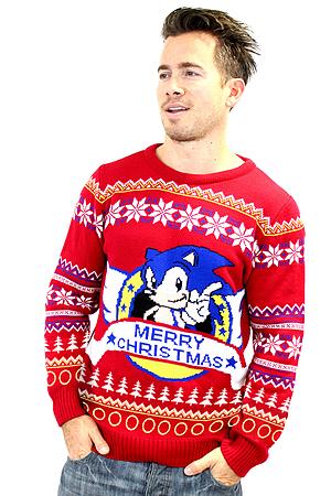 Buy Sonic The Hedgehog Christmas Jumper Large On Size L Free Uk