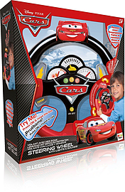 Cars steering wheel with soundsFigurines