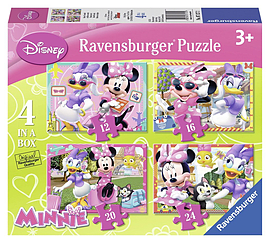 Disney Minnie Mouse 4 in BoxPuzzles and Board Games