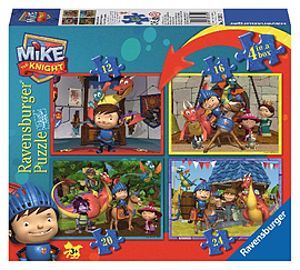 Mike the Knight 4 in Box PuzzlesPuzzles and Board Games