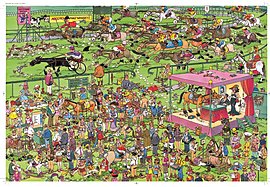 Jan Van Haasteren Ascot Horse Racing Puzzle (1500 Pieces)Puzzles and Board Games