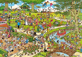 Jan Van Haasteren The Park Puzzle (3000 Pieces)Puzzles and Board Games