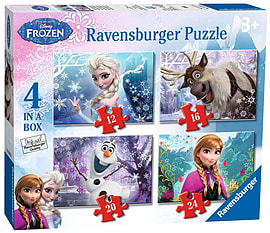 Ravensburger Disney Frozen Jigsaw Puzzles (Pack of 4)Puzzles and Board Games