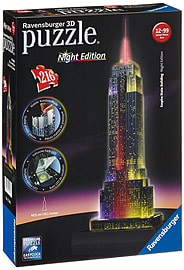Empire State Building 3D Puzzle with lights 216pcPuzzles and Board Games
