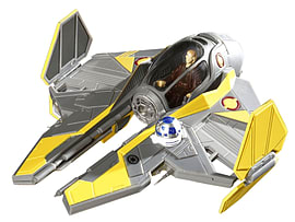 Anakins Jedi Starfighter 1:58 Scale EasyKit PocketFigurines
