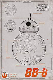 Star Wars Episode VII BB-8 Poster 61x91.5cmPosters