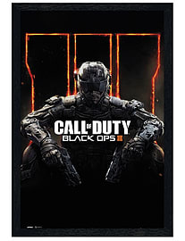 Call of Duty Black Wooden Framed Black Ops 3 COD Maxi Poster 61x91.5cmPosters