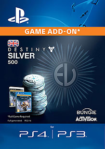 500 Destiny Silver for PS4