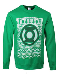 DC Comics Lantern Christmas Sweatshirt Green Men's Sweater: Small (mens 36 - 38)Clothing and Merchandise