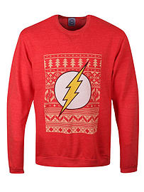DC Comics Flash Christmas Sweatshirt Red Men's Sweater: Xxl (mens 44-46)Size-XXL