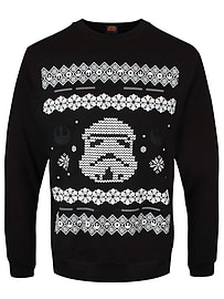 Star Wars Stormtrooper Christmas Black Men's Sweater: Extra Large (mens 42- 44)Clothing and Merchandise
