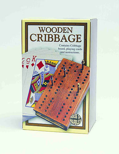 Wooden Cribbage Set (house Of Marbles)