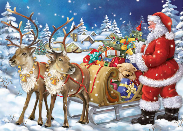 falcon deluxe christmas collection 2 3 in 1 jigsaw puzzles 3 x 1000 pieces