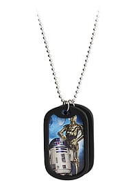 Star Wars C3po & R2d2 Double Dog TagGifts