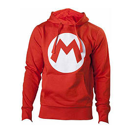 Nintendo Super Mario Bros. Big Mario Logo Unisex Hoodie, Extra Extra Large, RedClothing and Merchandise