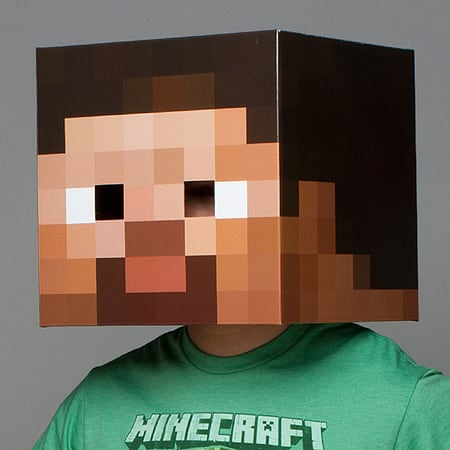 Minecraft Heads New Official Steve Head Cardboard Box Licensed Party Costume Uk & Buy Minecraft Heads New Official Steve Head Cardboard Box Licensed ...