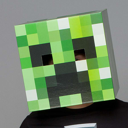 Minecraft Heads New Official Creeper Head Cardboard Box Licensed Party Costume & Buy Minecraft Heads New Official Creeper Head Cardboard Box Licensed ...
