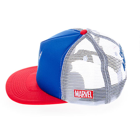Marvel Hats - Captain America Trucker Cap   Headwear - American Superhero  Hats 1d07cd649cb