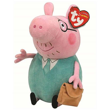 961d61eeeee Buy TY Peppa Pig Beanie Baby Plush - Daddy Pig 15cm