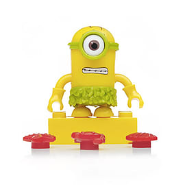 Mega Bloks Despicable Me Minions Series 3 Figure - Stuart (Green Hula Skirt)Blocks and Bricks