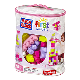 Mega Bloks Big Building Bag (Pink, 80 Pieces)Blocks and Bricks