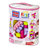 Mega Bloks Big Building Bag (Pink, 80 Pieces) screen shot 1