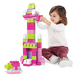 Mega Bloks Big Building Bag (Pink, 80 Pieces) screen shot 2