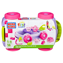 Mega Bloks First Builders Pull-n-Go Tea PartyBlocks and Bricks