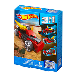 Mega Bloks Hot Wheels 3 in 1 Rage RiderBlocks and Bricks