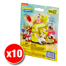Mega Bloks Spongebob Squarepants Series 3 Minifigures Mystery Bag (x10 Packs)Blocks and Bricks
