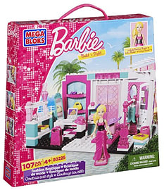 Mega Bloks - Barbie Build 'n Style Fashion Boutique - Toy PlaysetBlocks and Bricks