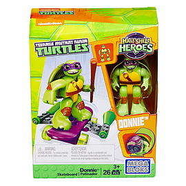 Mega Bloks Teenage Mutant Ninja Turtles Half-Shell Heroes Donnie with SkateboardBlocks and Bricks