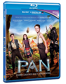 Pan (Blu Ray) Hugh Jackman, Peter PanBlu-ray