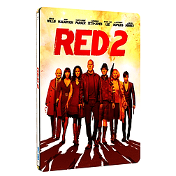 Red 2 Steelbook (Blu-Ray) Bruce Willis, John Malkovich, Helen Mirren, (C-12)Blu-ray