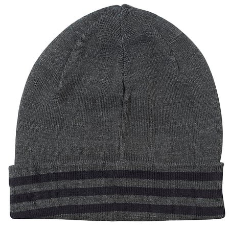 567f8d5d Buy adidas Performance 3 Stripe Woolie Beanie Hat Charcoal - Youth ...