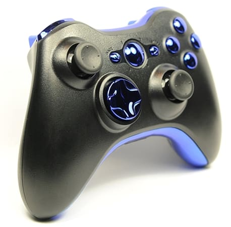 Buy Chrome Blue Button Xbox 360 Custom Controller | GAME