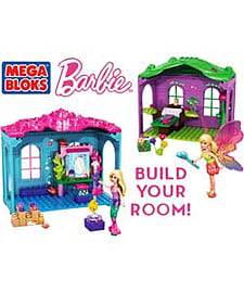 Mega Bloks Barbie Fantasy Rooms To Build.Blocks and Bricks