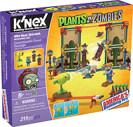 KNEX Plants Vs Zombies Wild West Skirmish.Blocks and Bricks