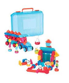 Bristle Blocks Deluxe Builder Case With 113 Pieces.Blocks and Bricks