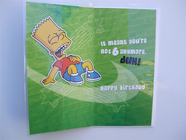 Buy Simpsons Birthday Card For A 7 Year Old By Hallmark Free Uk